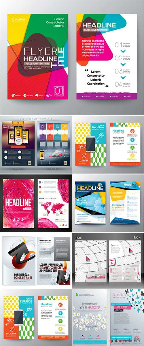 Stock Brochure Design Template vectors, Abstract Modern Backgrounds vectors