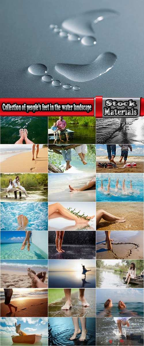 Collection of people's feet in the water landscape sea vacation beach sand trace 25 HQ Jpeg
