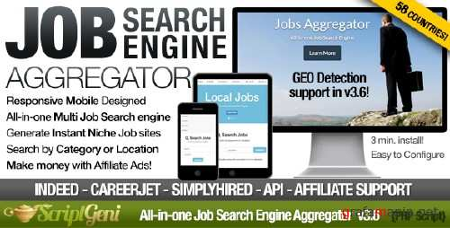 CodeCanyon - Instant Job Search Engine Aggregator v3.7