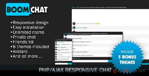 CodeCanyon - Boomchat v5.0 - Responsive PHP/AJAX Chat