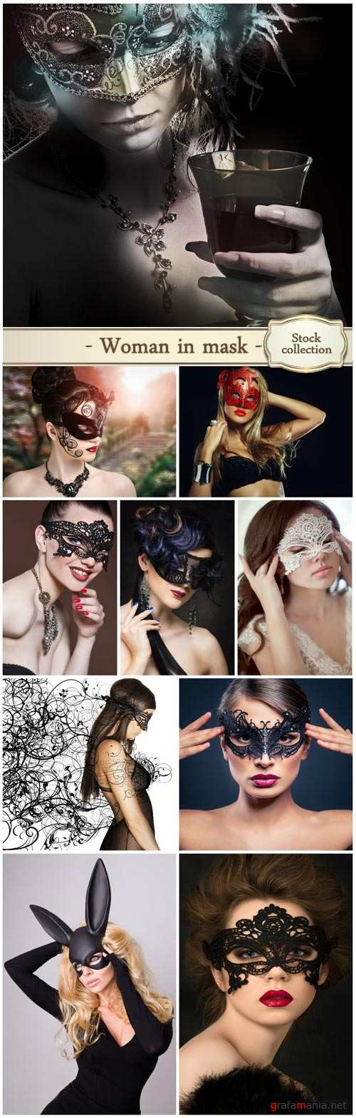 Women in masks - stock photos