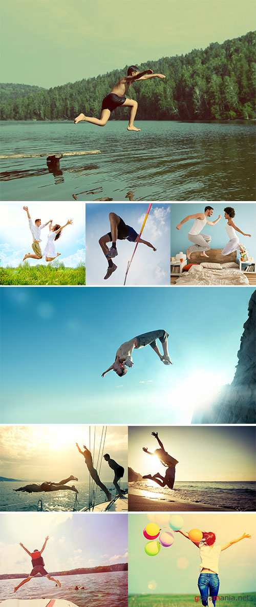 Stock Photos People and jumping