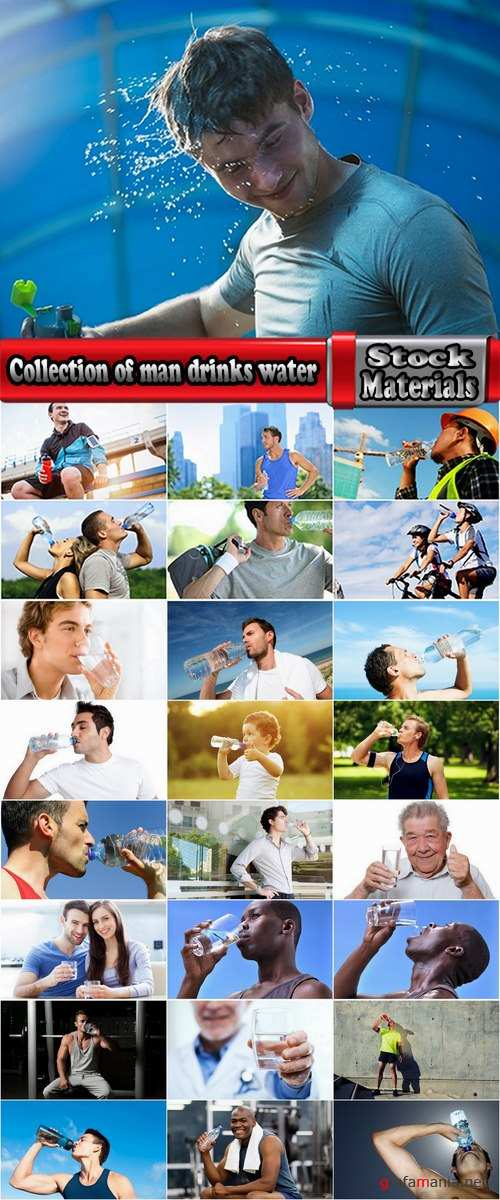 Collection of man drinks water sports fitness water bottle liquid people 25 HQ Jpeg