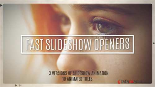 Fast Slideshow Openers + 10 Titles - After Effects Project (Videohive)