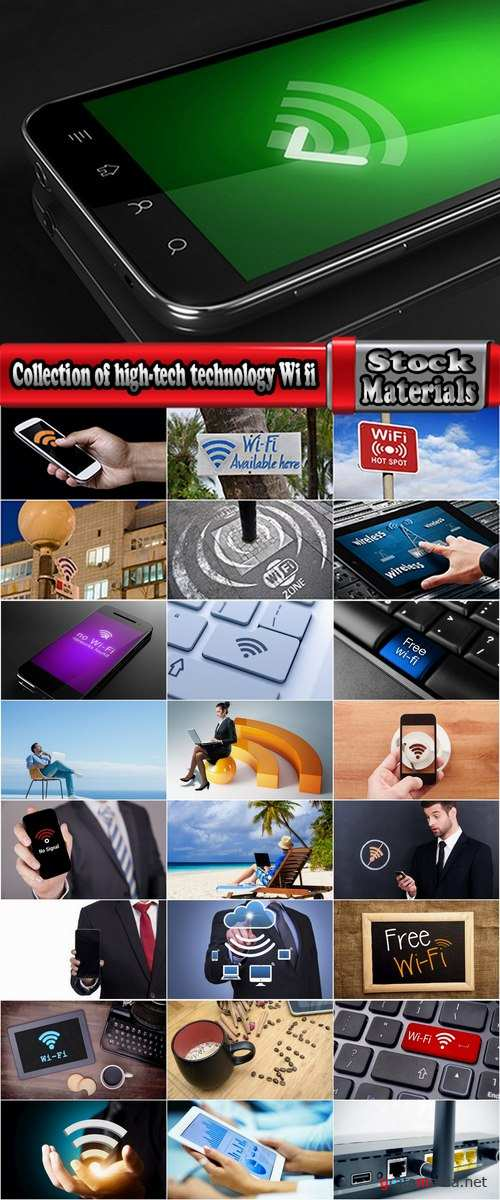 Collection of high-tech technology Wi fi mobile phone tablet 25 HQ Jpeg