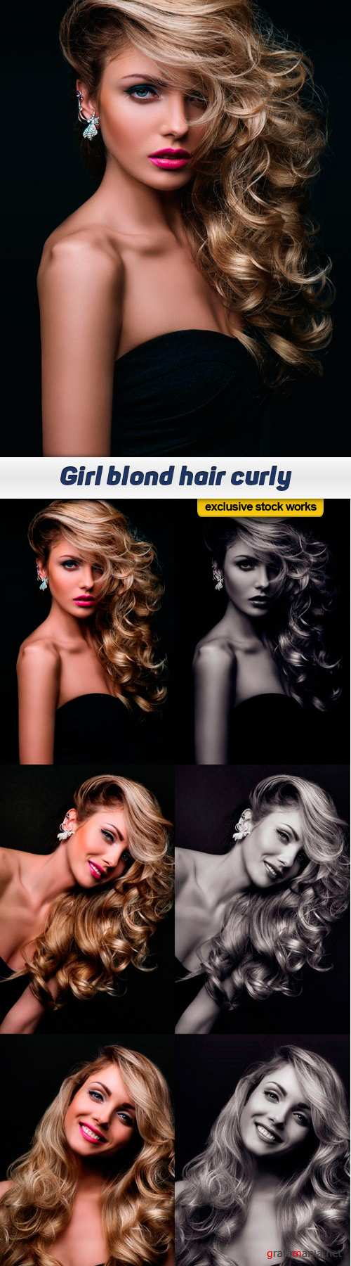 Girl blond hair curly - 6 UHQ JPEG