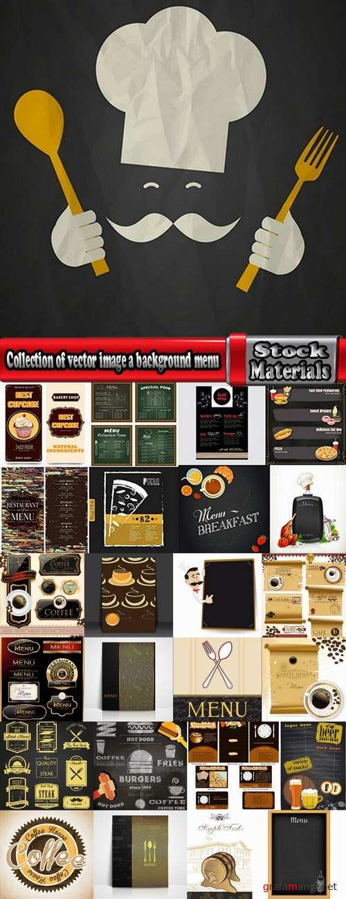 Collection of vector image a background menu background banner poster flyer #2-25 Eps