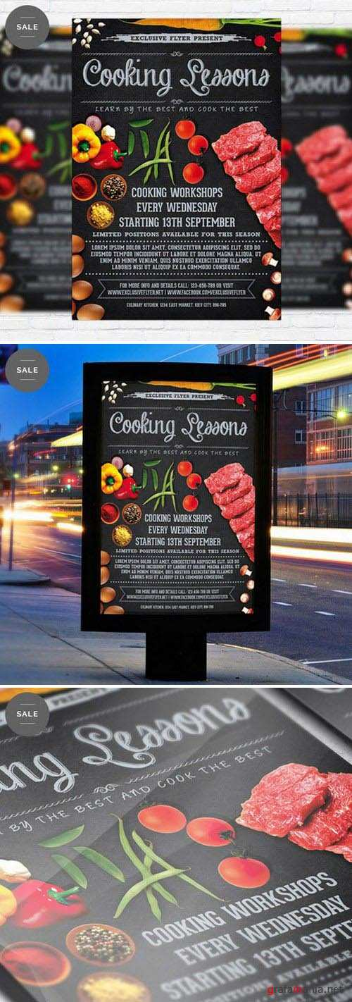 Business Flyer Psd Template - Cooking Lessons