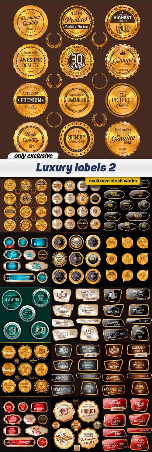 Luxury labels 2 - 15 EPS