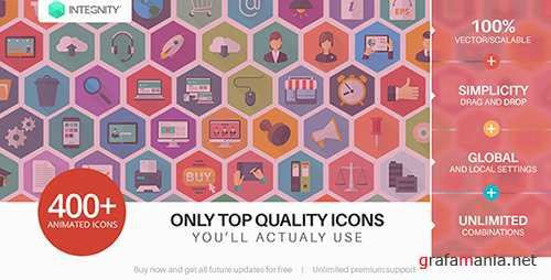 444 Flat Icons - The Ultimate Icon Bundle - Project for After Effects (Videohive)