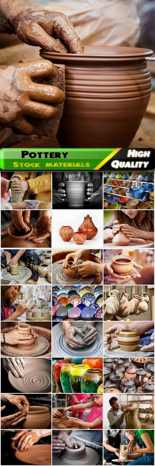 Pottery and clay modeling - 25 HQ Jpg