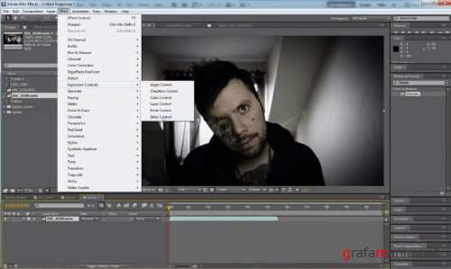How to create the burned face effects in After Effects