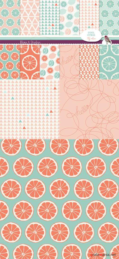 Creativemarket - Pink Lemonade Digital Lemon Patterns 62325