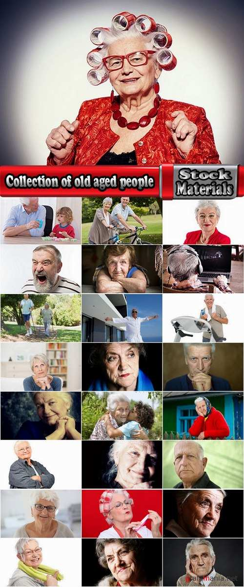 Collection of old aged people happy grandmother grandfather 25 HQ Jpeg