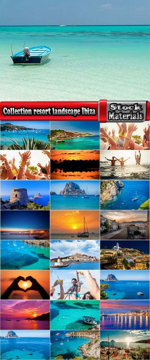 Collection resort landscape nature sea mountain beach bay of Ibiza town 25 HQ Jpeg