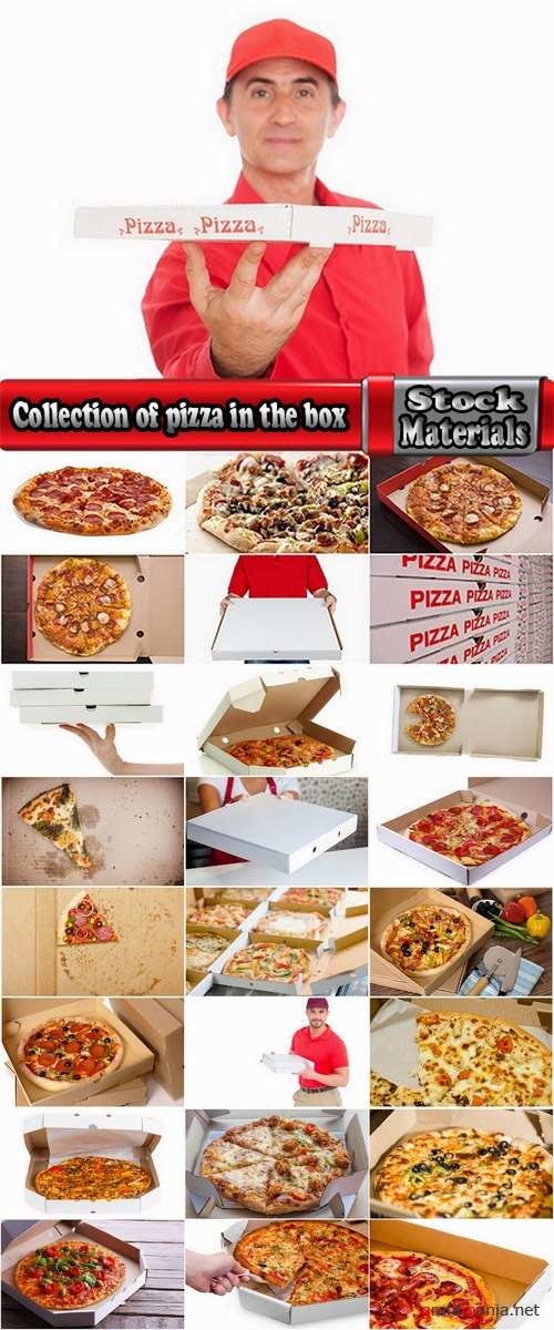 Collection of pizza in the box pizza delivery courier 25 HQ Jpeg