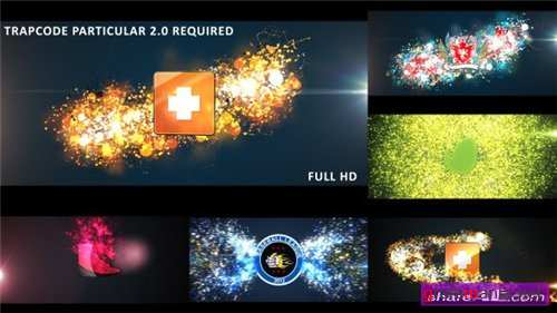 Glowing Particles Logo Reveal Pack: 01 Videohive - After Effects Project (Videohive)