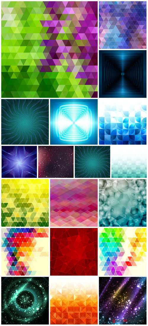Vector colorful backgrounds, abstraction