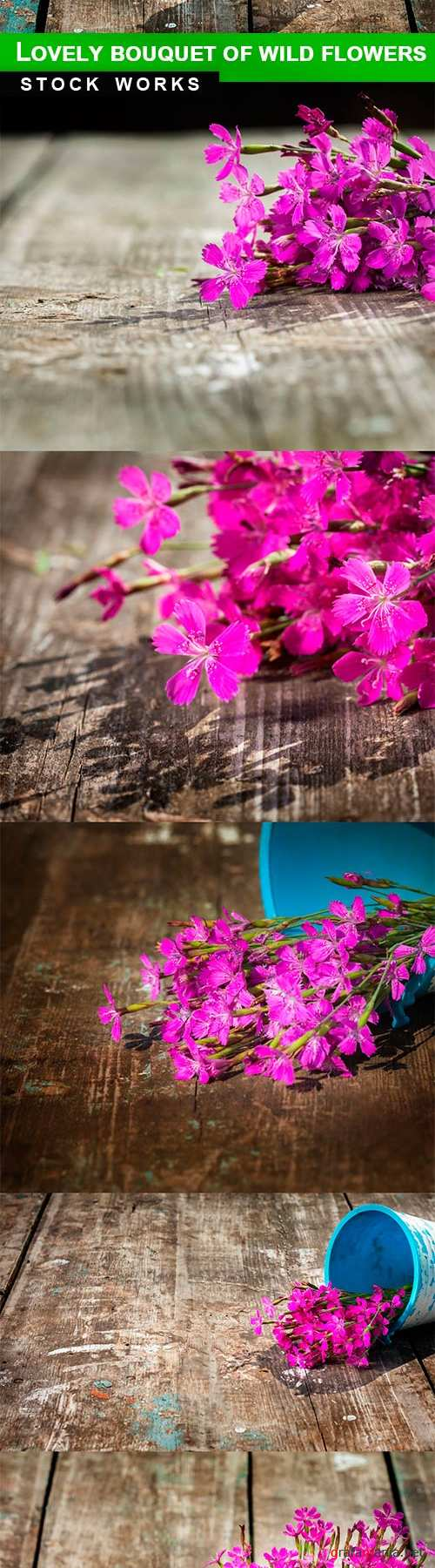 Lovely bouquet of wild flowers - 5 UHQ JPEG