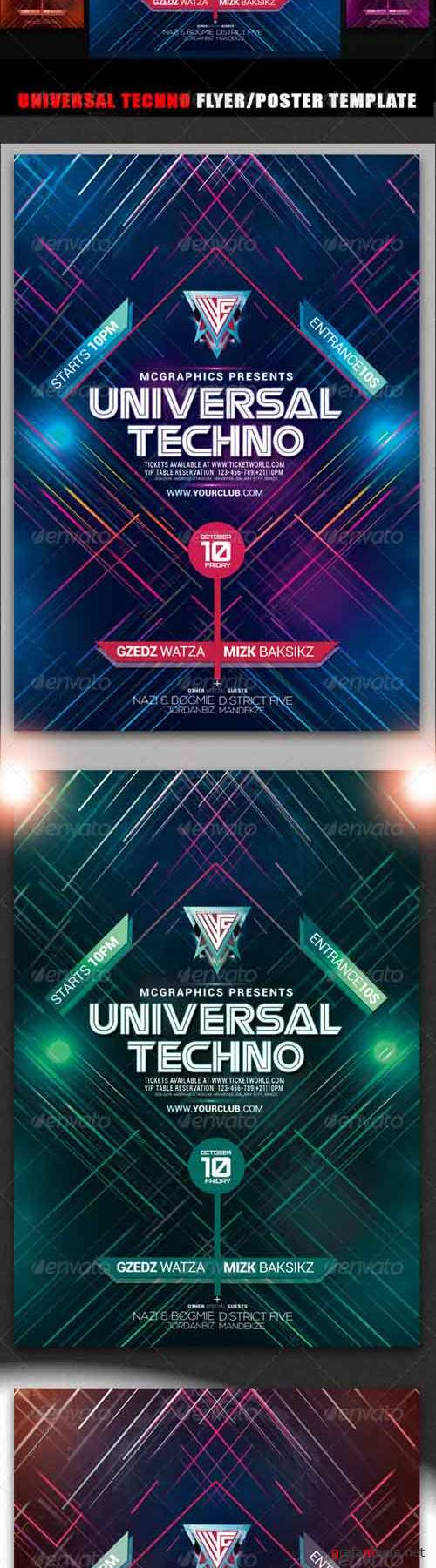Flyer/Poster Template - Universal Techno