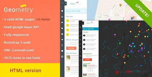 ThemeForest - GeoMetry - HTML Geolocation Template v2 - 5547092