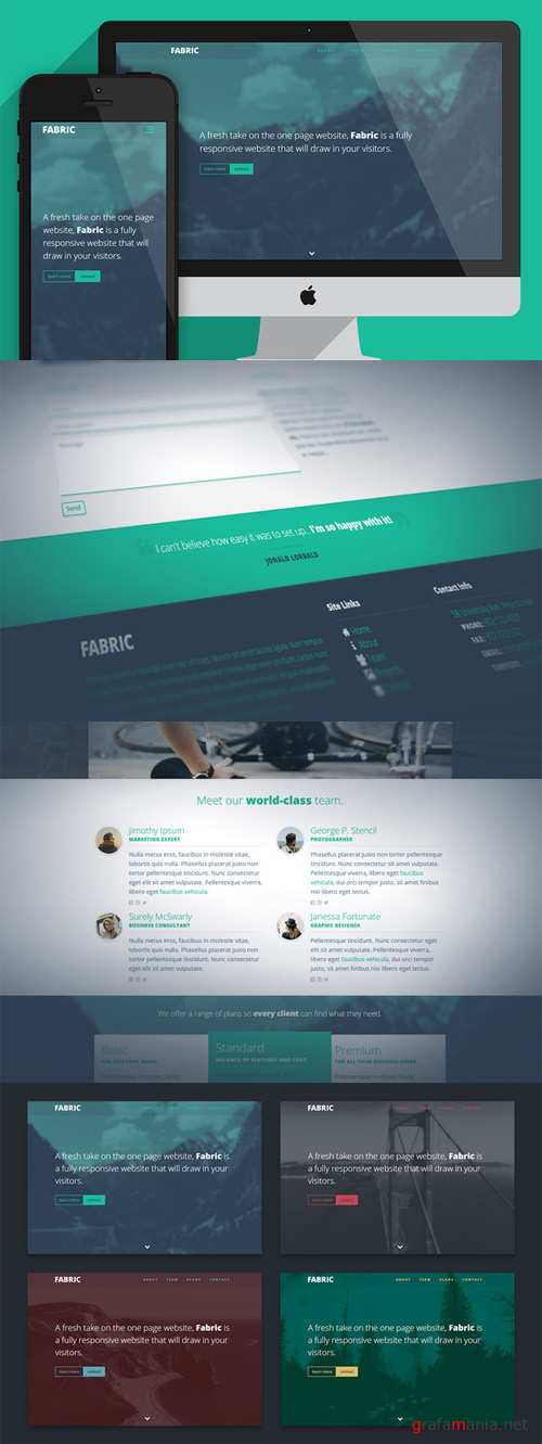 One page website template - Fabric