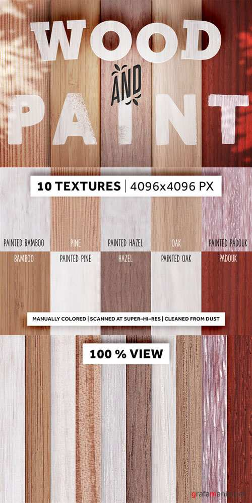 10 Hires-Textures Set - Wood and Paint