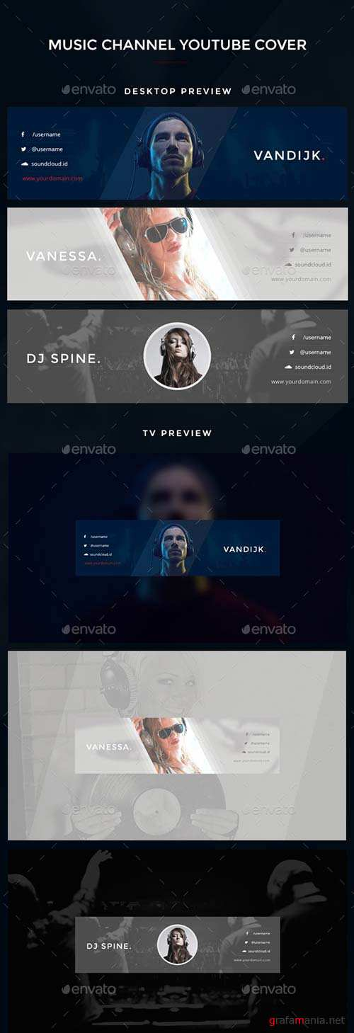 GraphicRiver Youtube Music Channel Art