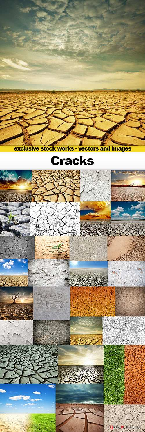 Cracks - Backgrounds and Textures, 30x UHQ JPEG