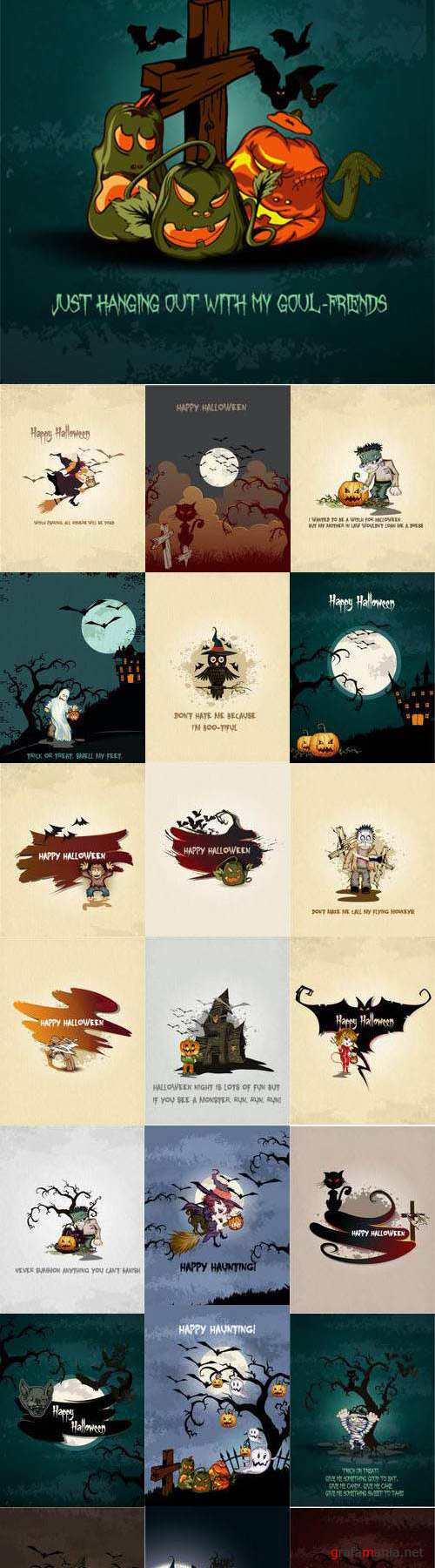 25 EPS - Vector Set Happy Halloween 2