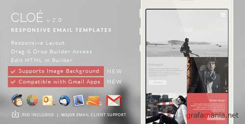 ThemeForest - Cloe v2.0.0 - Responsive Email Template + Builder Access - 9882387