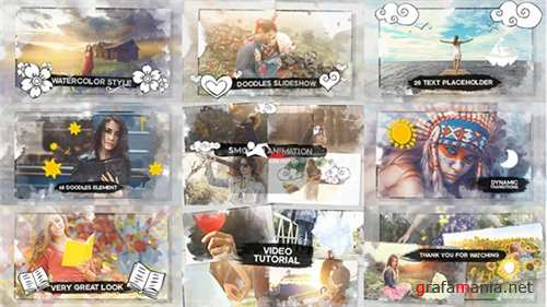 Watercolor & Doodles SlideShow - After Effects Project (Videohive)