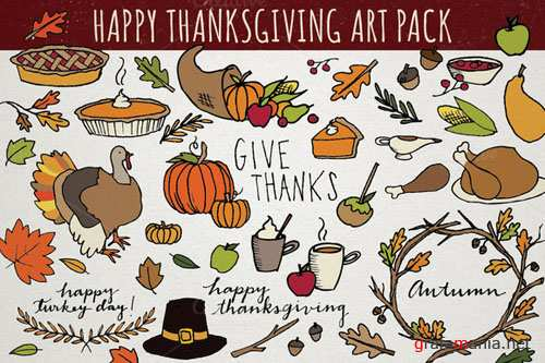 Creativemarket - Thanksgiving Art Pack 111012
