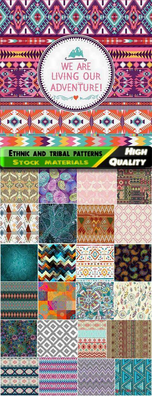 Ethnic paisley and tribal seamles patterns - 25 Eps