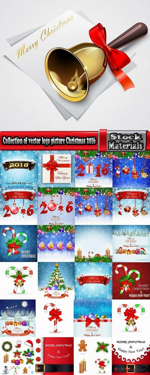 Collection of vector logo picture Christmas 2016 a background banner poster flyer gift caramel 25 EPS