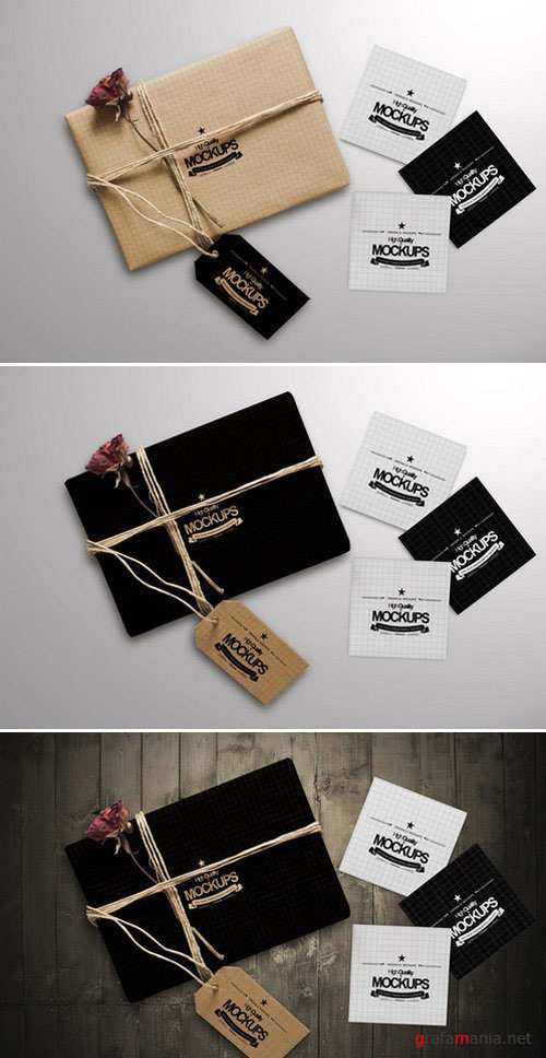 CM - Box And Square Business card Mockup