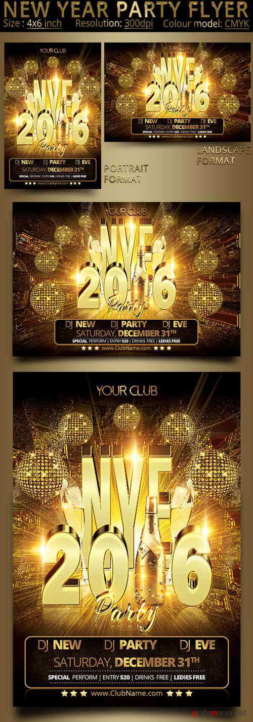 CM - New Year Party Flyer