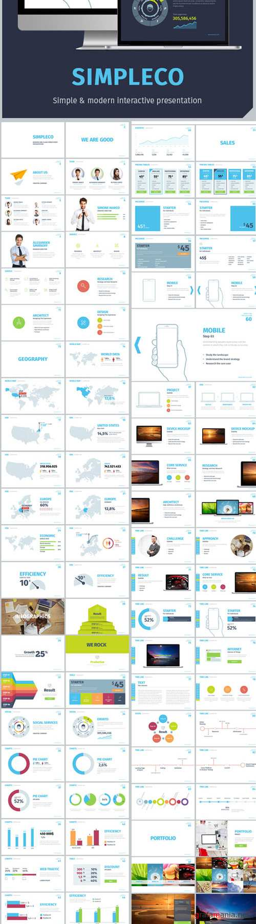 GraphicRiver - SIMPLECO Simple Powerpoint Template 13220655