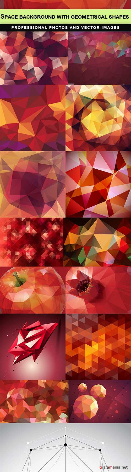 Space background with geometrical shapes - 15   EPS