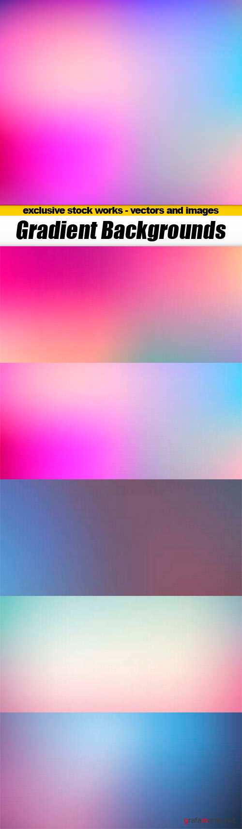 Gradient Backgrounds - 5x EPS