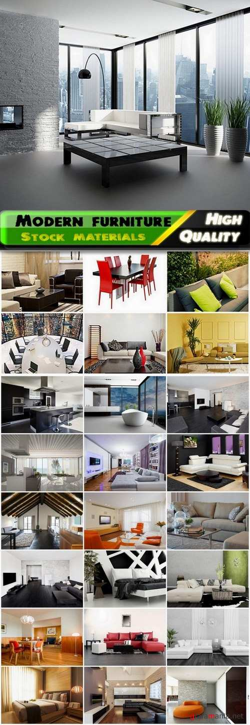 House interior with modern furniture - 25 HQ Jpg