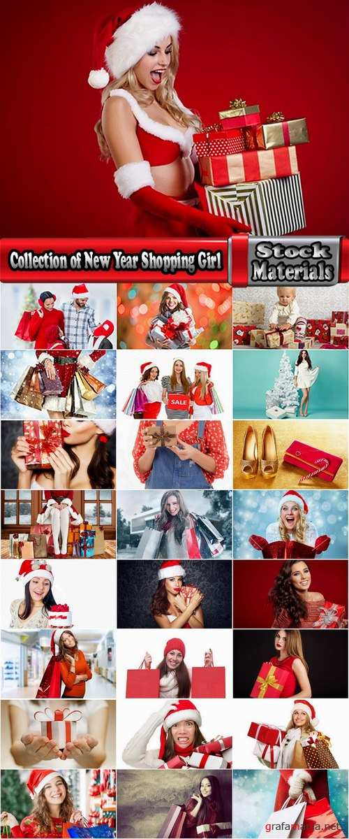 Collection of New Year Shopping Girl Christmas shopping 25 HQ Jpeg