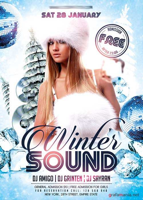 Winter Mix Flyer PSD Template + Facebook Cover