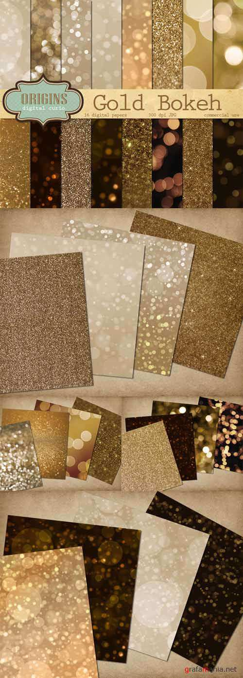 Gold Bokeh and Glitter Backgrounds - 470294