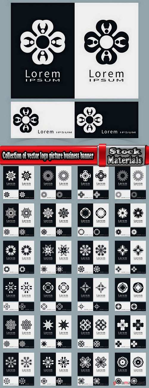 Collection of vector logo picture business banner flyer business card poster 25 EPS