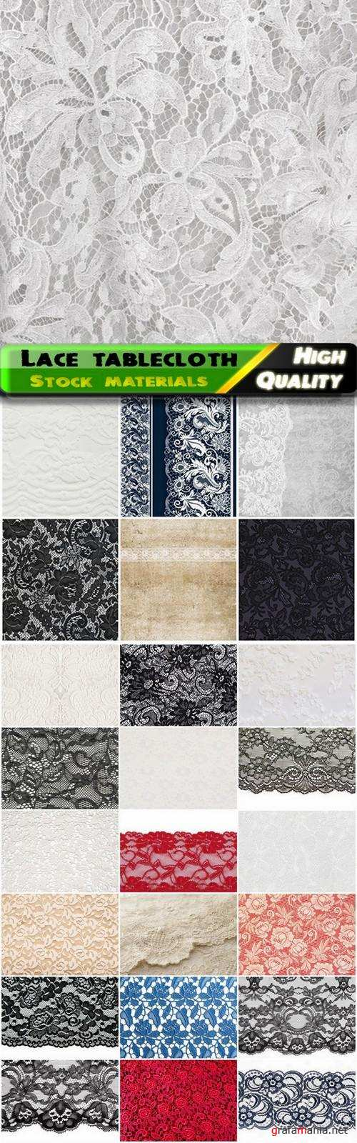 Textures of lace tablecloth with ornaments - 25 HQ Jpg