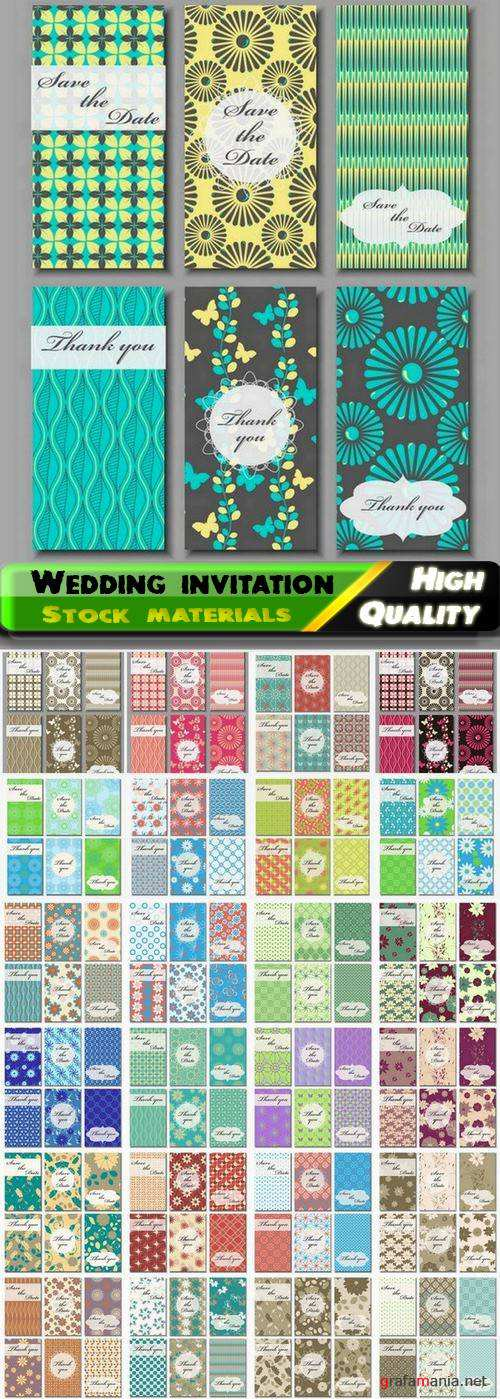 Template for Wedding invitation in vector from stock #6 - 25 Eps