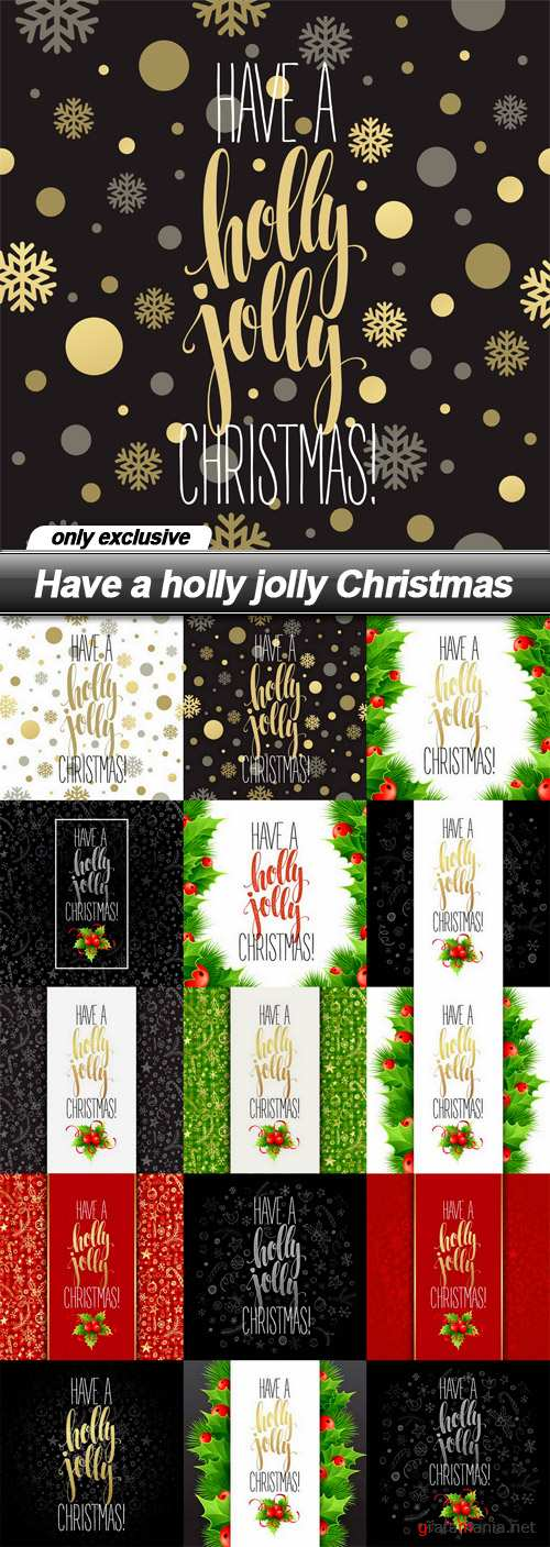 Have a holly jolly Christmas - 15 EPS