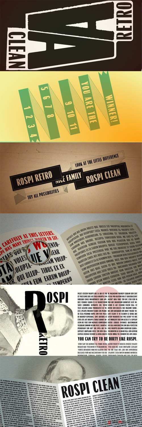 Font - Rospi Clean and Retro