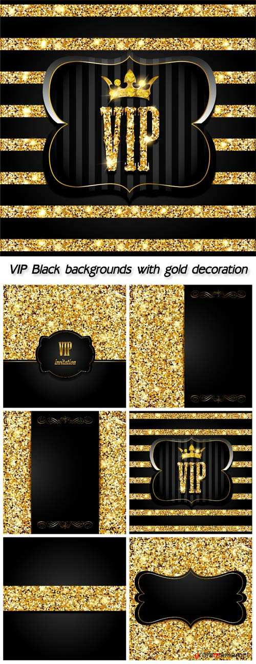 VIP Black backgrounds with gold decoration